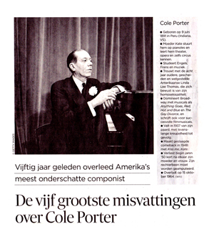 Wilfried and Cole in De Morgen
