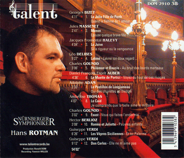 French Opera Arias Back Cover